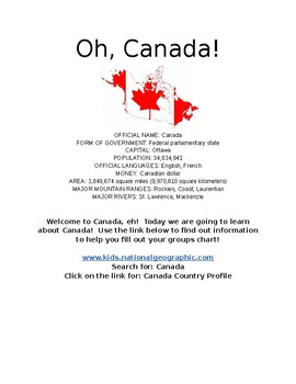 Oh, Canada! An Introductory Research Project