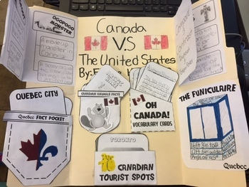 Oh Canada! Interactive Notebook Activities with  STEM, and Test Prep!