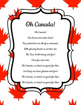 Oh Canada! National Anthem - New Version - FRENCH, ENGLISH, BILINGUAL Posters