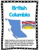 Oh Canada! Posters and Worksheets for Provinces and Territories