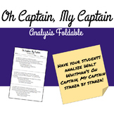 Oh Captain, My Captain Analysis Foldable
