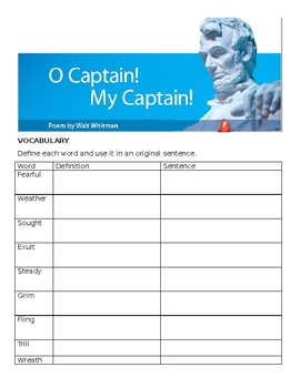 Oh Captain, My Captain Comprehensive Study Guide