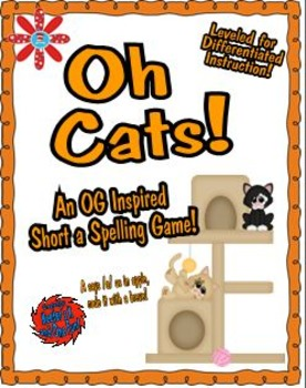 Oh Cats!  An Orton-Gillingham Inspired Short a Spelling Board Game!