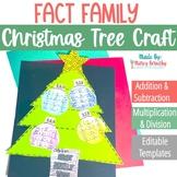 EDITABLE Fact Family Christmas Tree