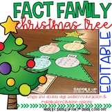 EDITABLE Fact Family Christmas Tree