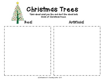 Oh, Christmas Tree! - An Expository Writing Activity
