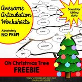 Oh Christmas Tree! Articulation Worksheet FREEBIE