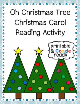 Oh Christmas Tree Christmas Carol Close Reading Activity
