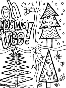 Oh Christmas Tree Coloring Page By Koolkat S Art Bin Tpt
