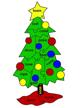 oh christmas tree holiday sight words puzzle