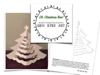 Oh, Christmas Tree! Holiday Tree Card Decoration Craft.