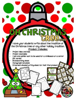 Oh Christmas Tree....Writing Activity