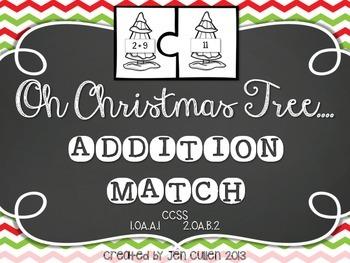 Oh Christmas Tree...Addition Match {FREE}