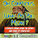 Oh, Confucius! What do you mean? Students analyze Confucianism quotes!