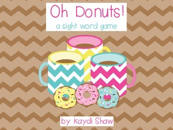 Oh Donuts! A Sight Word Game