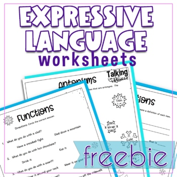 Oh (Expressive) Language Games Worksheets