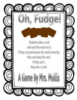 Oh, Fudge! -dge words