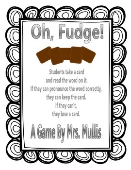 Oh, Fudge! -dge words