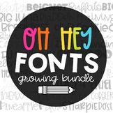 Oh Hey Fonts | GROWING FONT BUNDLE