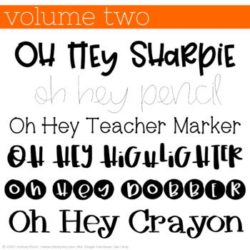 Oh Hey Fonts: Volume 2