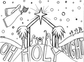 Oh Holy Night coloring sheet
