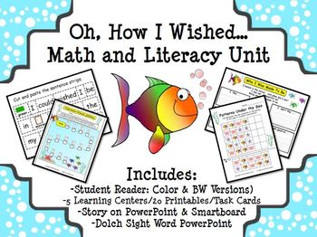 """Spring Math & Literacy Unit """"Oh, How I Wished..."""""""