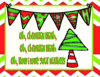 Oh, How I love Your Numbers- Christmas Math Spiral QR  Act