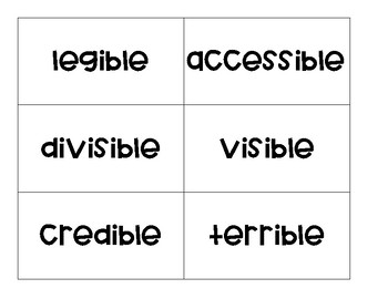Suffixes: -ible and -able