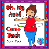 Oh, My Aunt Came Back Song Pack | Clip Art | Song Cards | Coloring Pages