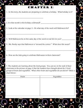 Oh, My! Ginny Fry! The Halloween Mix-Up Comprehension Packet
