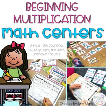 Oh My, I Can Multiply! {4 Hands On Math Centers for Beginning Multiplication}
