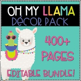 Oh My Llama! Decor Bundle - Editable!