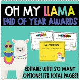 Oh My Llama! End of Year Awards - Editable!