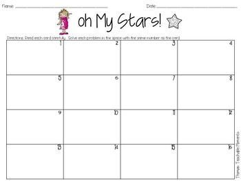 FREEBIE! Addition With Regrouping Oh My Stars! Task Cards