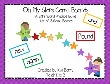 Game Boards - Dolch Sight Words Practice - Oh My Stars Edition