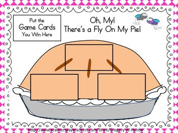 Oh, My! There's a Fly On My Pie! ~ Sight Word, Number, Color Shape & Letter Game