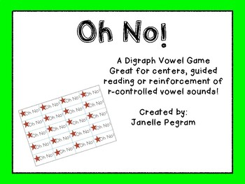 Oh No! A Digraph Word Game!