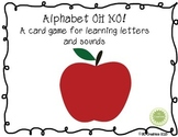 Alphabet Oh No!  A game for learning the letters and sound