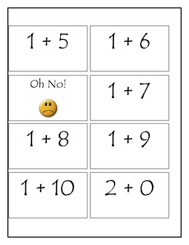 Oh No! Addition Game for Fact Fluency