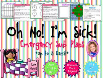 Oh No I'm Sick!: Emergency Sub Plans (3 Days Worth!)