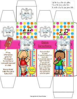 Oh No! Rhythm (Ta, Ti-Ti) Popsicle Sticks Game