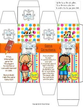 Oh No! Rhythm (Ta, Ti-Ti, Rest) Popsicle Sticks Game