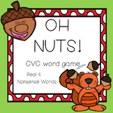Oh Nuts!: CVC real and nonsense word game