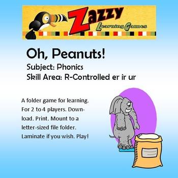 Oh, Peanuts! Folder Game Phonics er, ir, ur