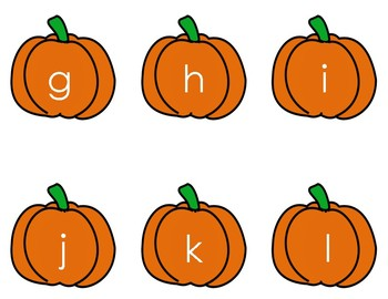 Oh Pumpkin - Letter Identification and Recognition Game