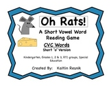 Oh, Rats!  CVC Word Reading Game Short 'o'