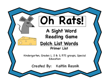 Oh Rats! Dolch Sight Words - Primer List