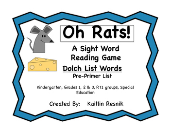 Oh Rats!  Dolch Words
