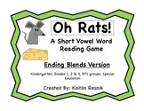 Oh Rats! Ending Consonant Blends Word Reading Game