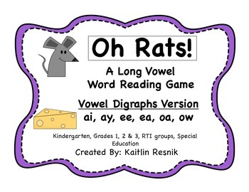 Oh, Rats! Vowel Digraphs Word Reading Game